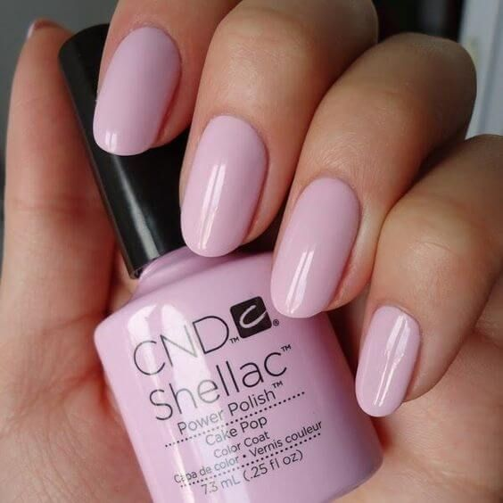 shellac gel nails